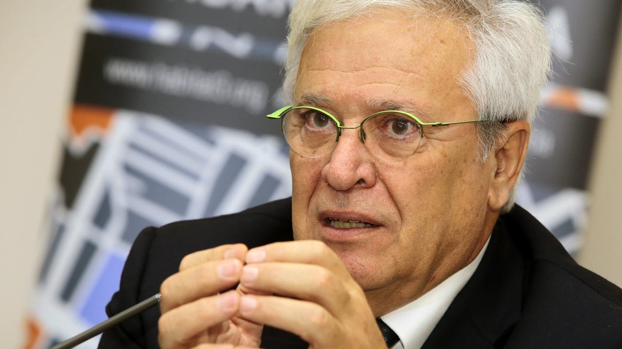 The Secretary-General of the United Nations Conference on Housing and Sustainable Urban Development HABITAT III, Joan Clos, speaks during a press conference in Quito on October 14, 2016, ahead of the HABITAT III meeting in Ecuador. The HABITAT III conference will take place from October 17 through 20 in Quito. Juan CEVALLOS / AFP