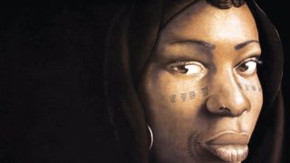 Babajide Olatunji, 'Tribal Mark', Series III #14, 2016, Charcoal and pastel on paper, 78 x 118 cm, Courtesy of TAFETA