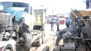The scene of the accident at Oja Oba Market