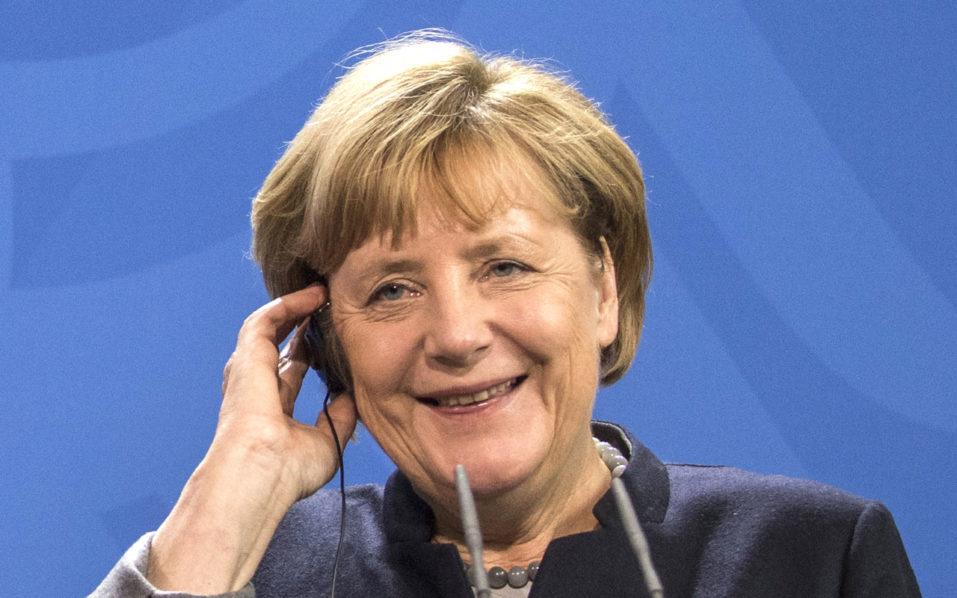 German Chancellor Angela Merkel / AFP PHOTO / John MACDOUGALL