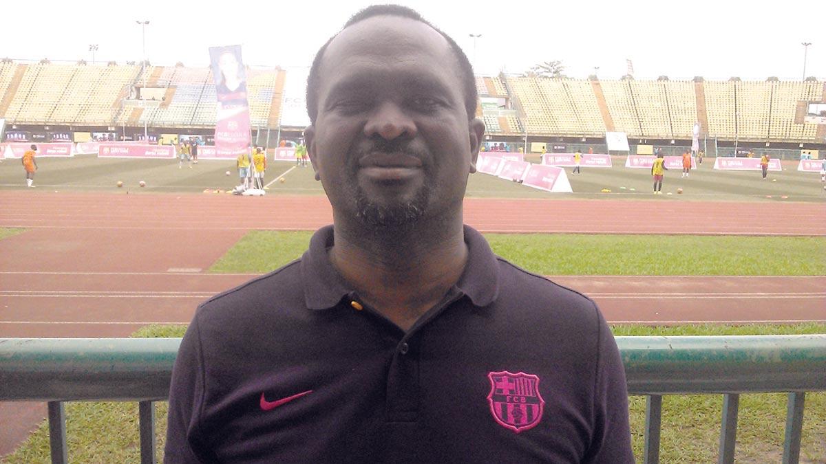 A license holder of FCBESCOLA Soccer School, Mr. Leslie Oghomiernor.