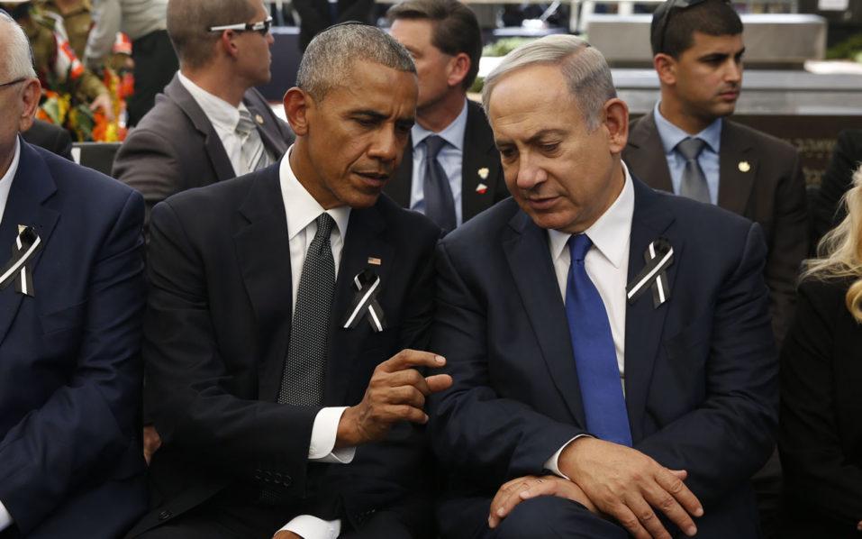 , US President Barack Obama, Israeli Prime Minister Benjamin Netanyahu/ AFP PHOTO / POOL / ABIR SULTAN