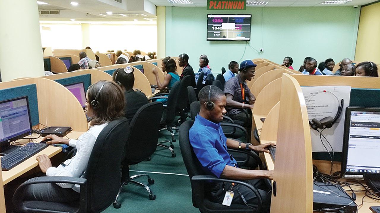 An MTN call centre