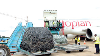 Ethiopian airliner at Enugu airport recently