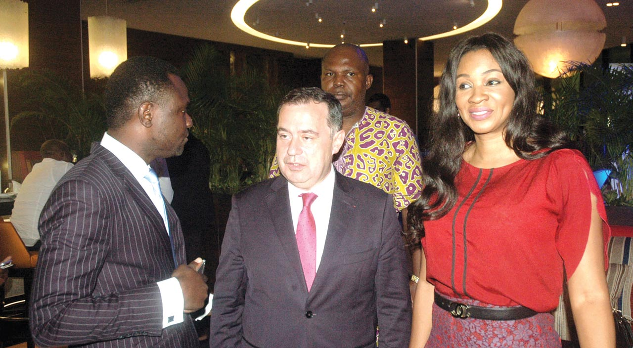 Mr. Ken Atete, Chairman Century Group, Mr. Pascal Lorot, Chairman of Institut Choiseul and Ms. Chioma Ude, Founder/CEO AFRIFF during an interactive session with Lorot at the Eko Hotel and Suites, Lagos... recently