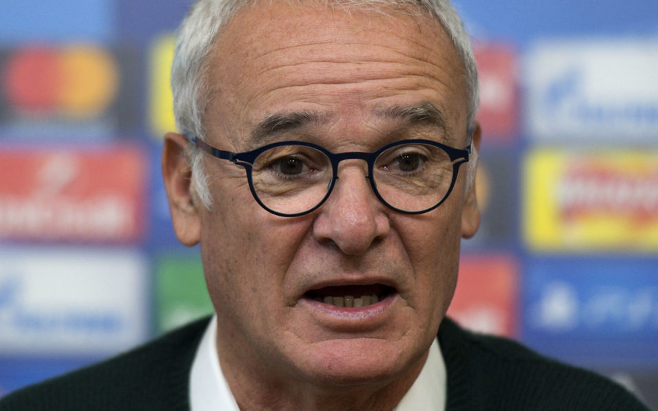 Leicester City's Italian manager Claudio Ranieri speaks during a press conference at the King Power stadium in Leicester, central England, on October 17, 2016, ahead of their UEFA Champions League group G football match against FC Copenhagen on October 18.  / AFP PHOTO / JUSTIN TALLIS