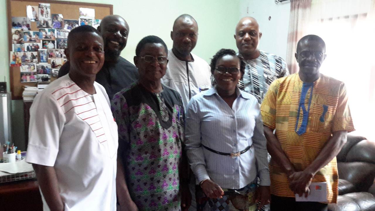 Efuru@50 National Organising Committee and officials of IMT... in Enugu