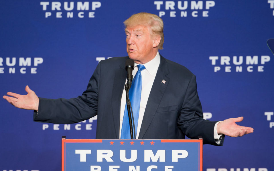 Republican presidential nominee Donald Trump / AFP PHOTO / Tasos Katopodis
