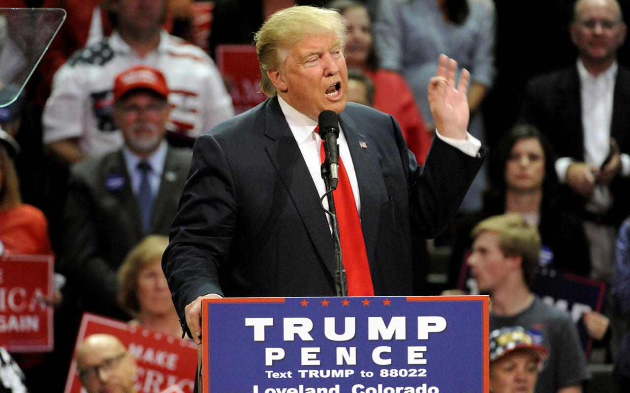 Republican presidential nominee Donald Trump / AFP PHOTO / Jason Connolly
