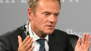 President of EU Council Donald Tusk   / AFP PHOTO / dpa / Armin Weigel / Germany OUT