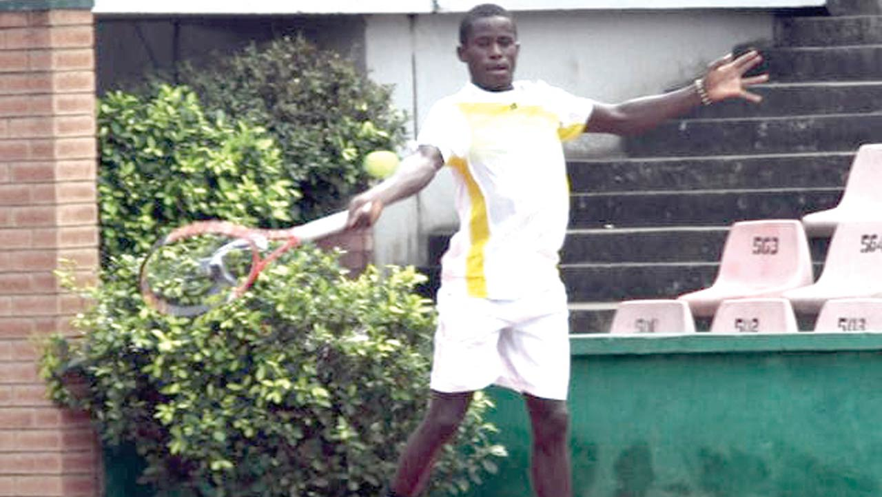 Clifford Enoseregbe lost in the quarterfinal of the on-going 16th Governors Cup Lagos Tennis Championship… yesterday.