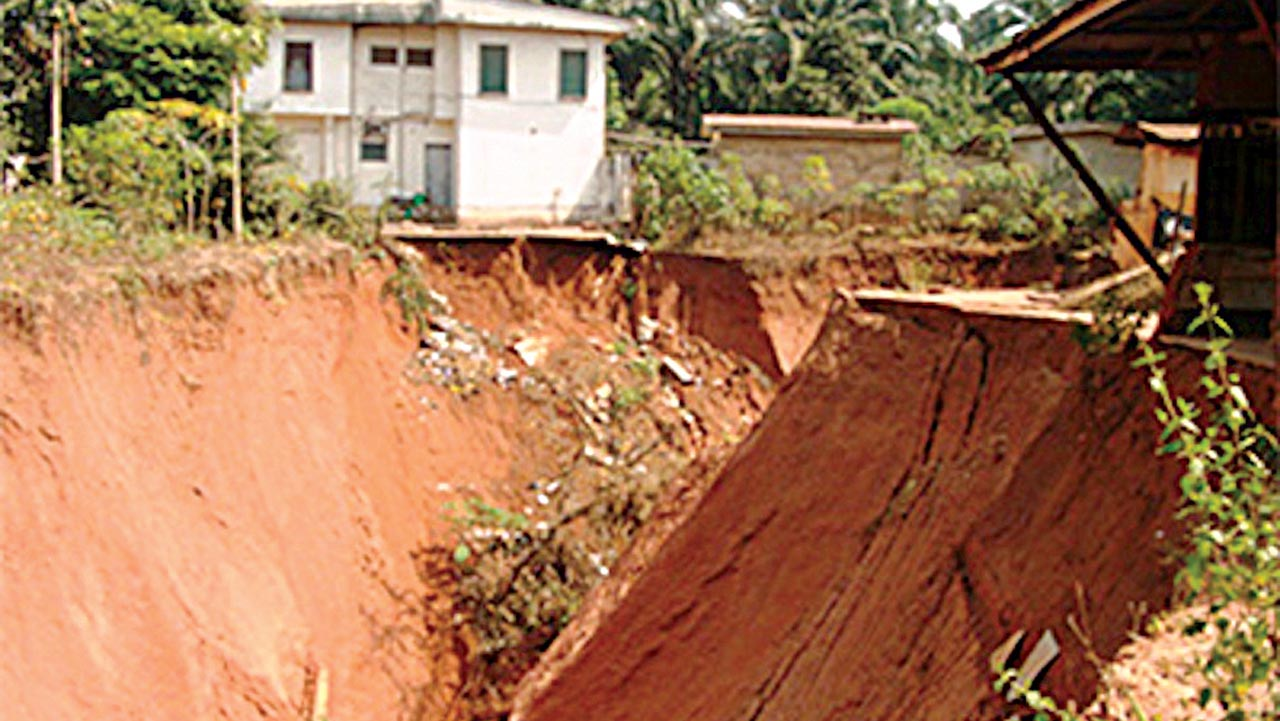 Erosion threatening some houses in the state