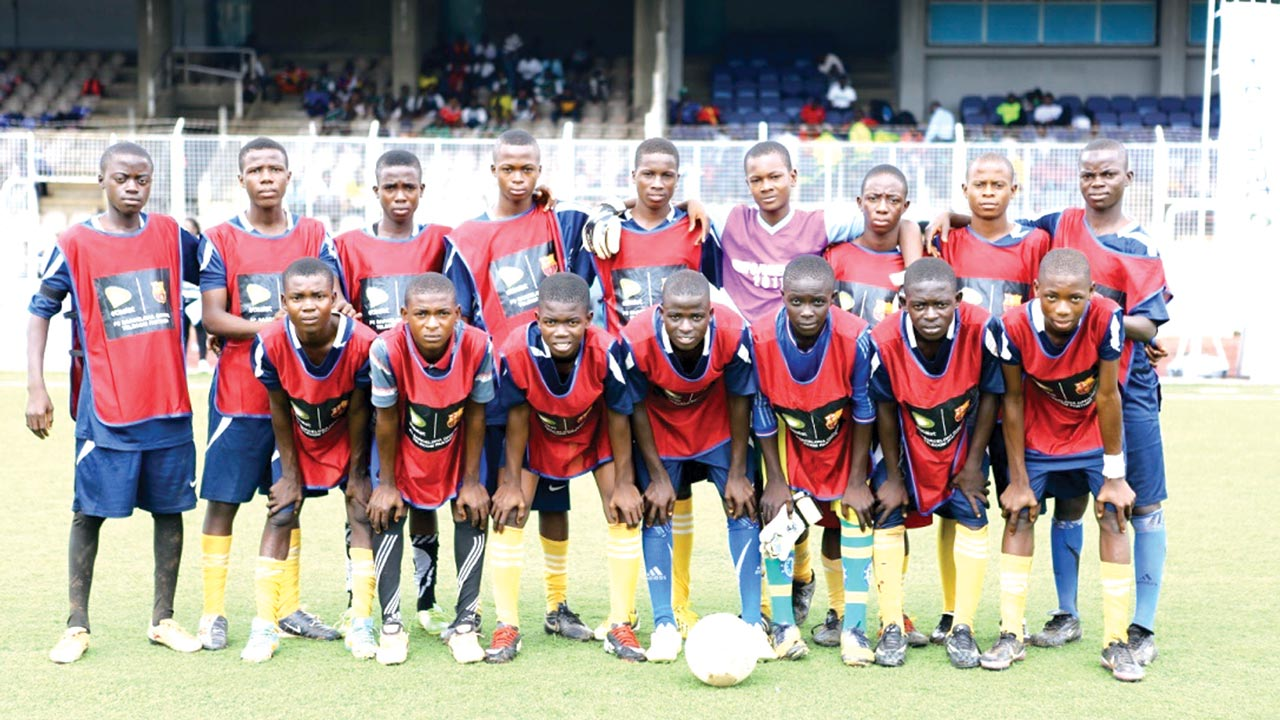 The Oyo team at the South West zone of the Etisalat U-15 School Cup Football Competition, which ended in Ibadan… at the weekend.