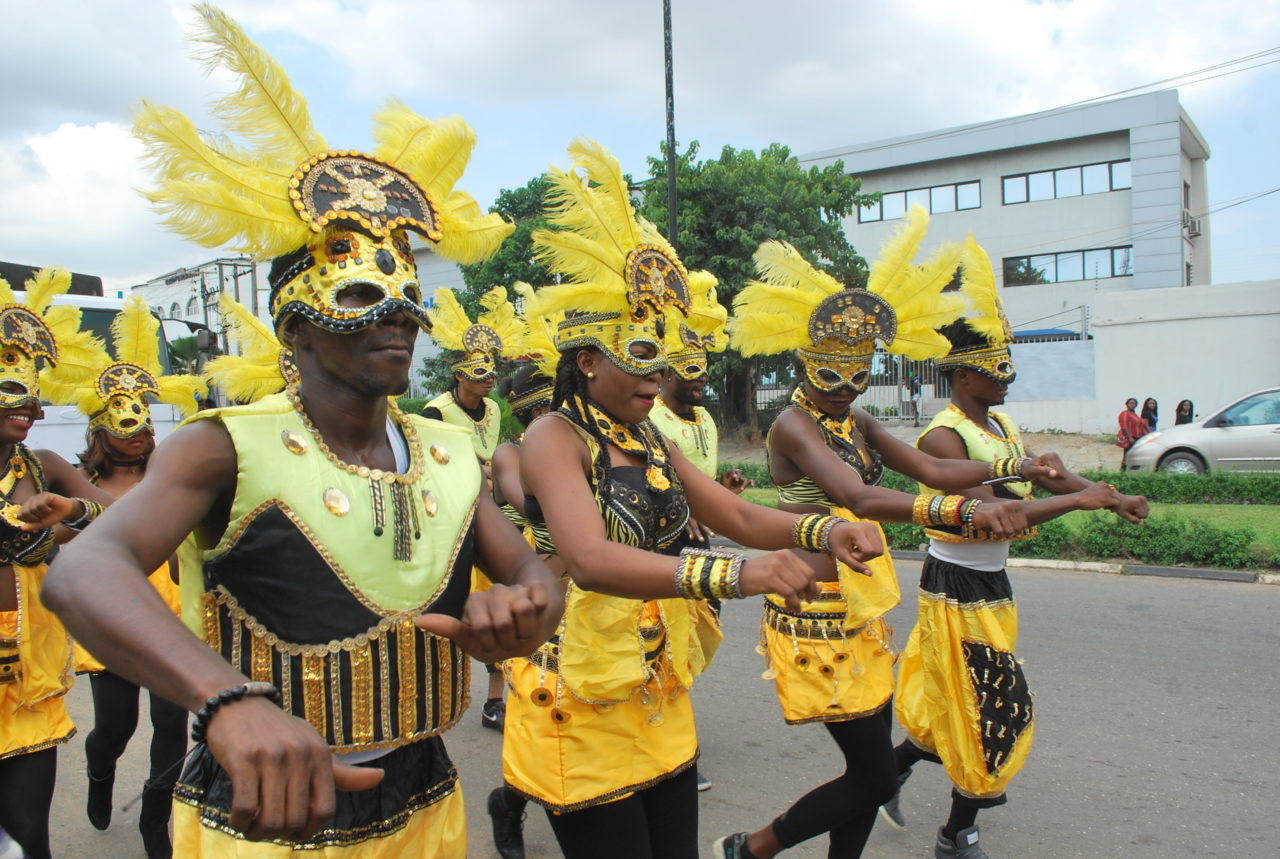Fans of late Afrobeat legend Fela Anikulapo-Kuti celebrated the memory of the late Nigerian icon with a carnival procession in Lagos on Saturday, September 15, 2016. PHOTO: AYODELE ADENIRAN