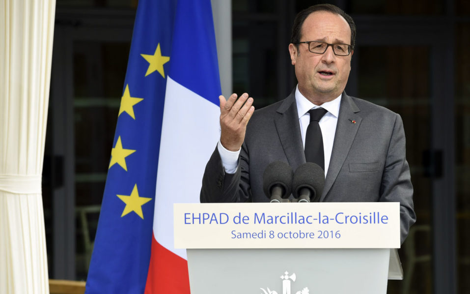 French President Francois Hollande / AFP PHOTO / MEHDI FEDOUACH