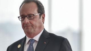 French President Francois Hollande/ AFP PHOTO / POOL / Etienne Oliveau /