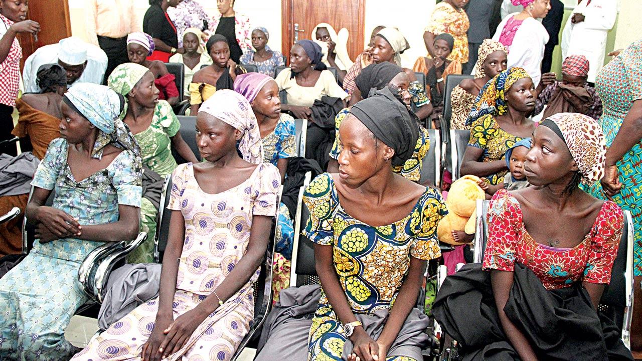 Some of the Chibok girls, PHOTO: PHILIP OJISUA
