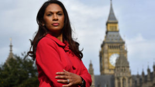 Gina Miller, co-founder of investment fund SCM Private, poses for a photograph near the Houses of Parliament in central London on October 12, 2016, following an interview with AFP. The businesswoman leading a high-powered legal challenge against Prime Minister Theresa May's right to trigger Brexit negotiations told AFP she has received death threats and accusations of treason. Miller, wants parliament to legislate on the terms of Brexit before May can trigger Article 50 of the EU's Lisbon Treaty -- starting the formal procedure for leaving the European Union. / AFP PHOTO / BEN STANSALL / TO GO WITH AFP STORY BY DARIO THUBURN