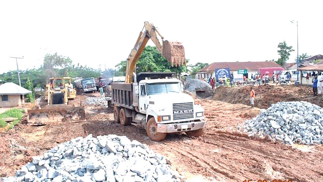 Ongoing works at the Calabar-Ikom-Ogoja Highway