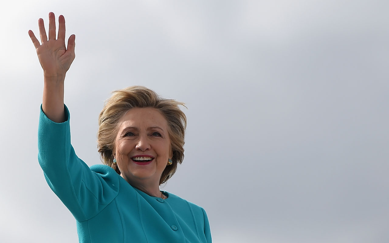 Democratic presidential nominee Hillary Clinton / AFP PHOTO / Robyn BECK