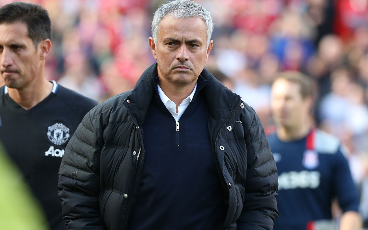 Manchester United's Portuguese manager Jose Mourinho / AFP PHOTO / Scott Heppell