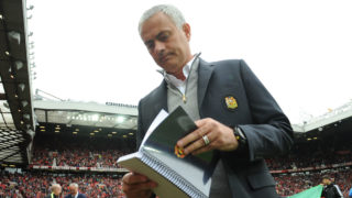 Manchester United's Portuguese manager Jose Mourinho  / AFP PHOTO / Anthony DEVLIN /