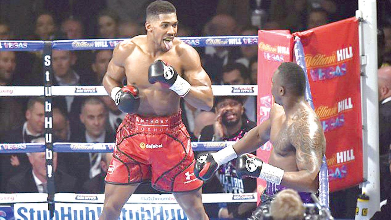 Nigerian-born British IBF heavyweight champion, Anthony Joshua, will meet former world champion, Wladmir Klitschko, in London… on December 10.                PHOTO: DAILYMAIL.CO.UK.