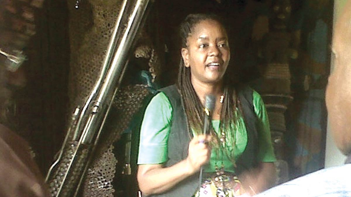 Visiting Kenyan Scholar, Lydia Gatundu Galavu speaking during a Lagos interactive event