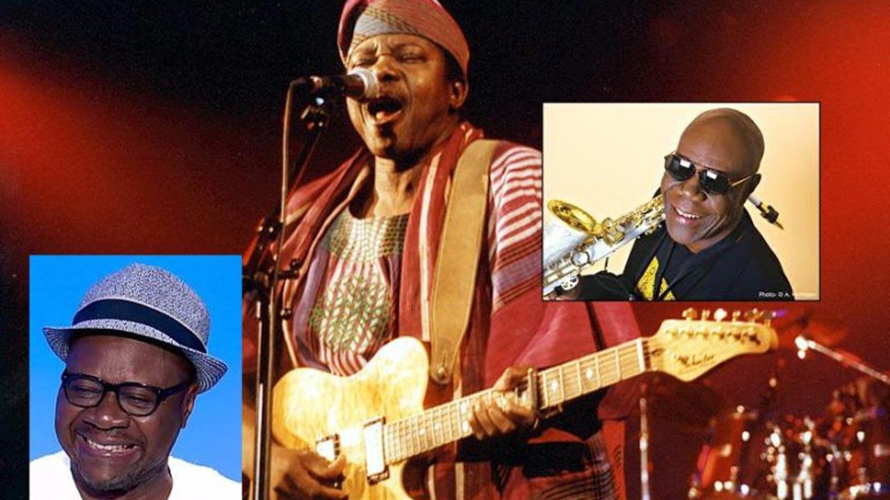 Left-Right, Papa Wemba, King Sunny Ade, Manu Dibango