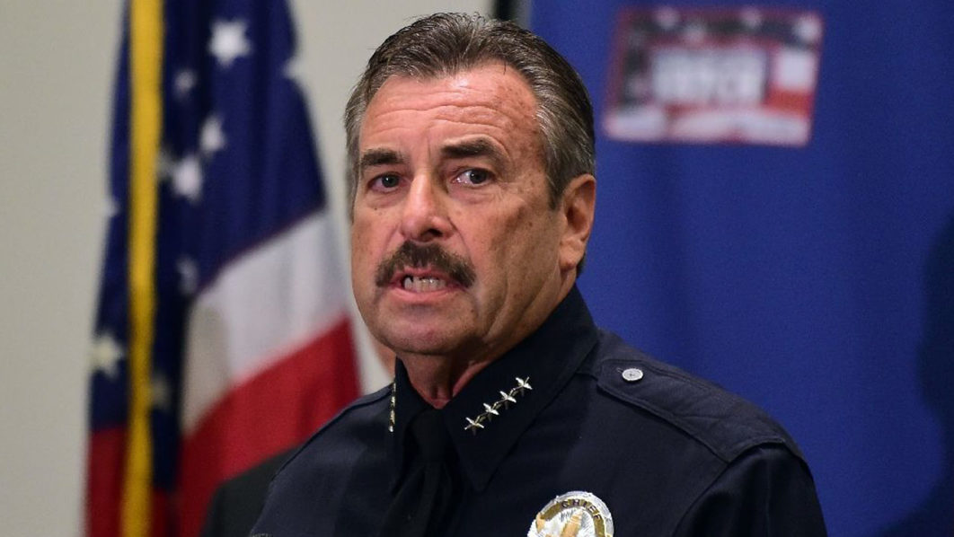 Los Angeles police chief Charlie Beck says one of the police shooting victims was carrying a handgun that he pointed at officers chasing him on foot after he exited a suspected stolen car (AFP Photo/Frederic J Brown)