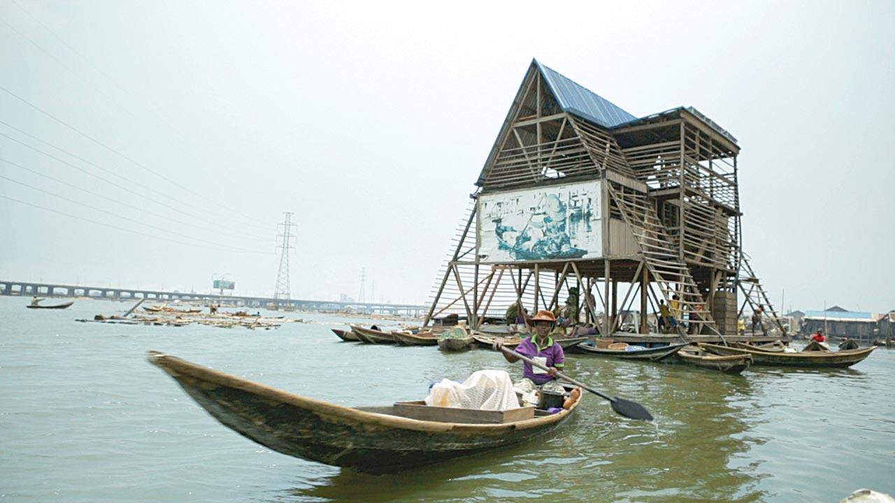 Makoko Floating School while in use