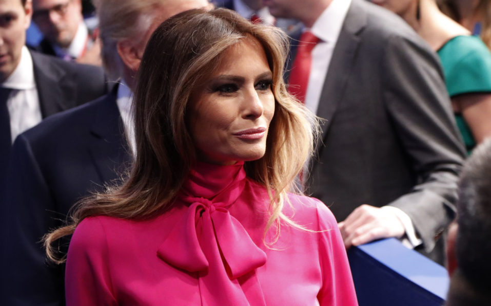 Republican nominee Donald Trump's wife Melania Trump / AFP PHOTO / POOL / RICK WILKING