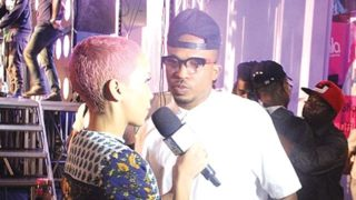 Rapper Naeto C on arrival.