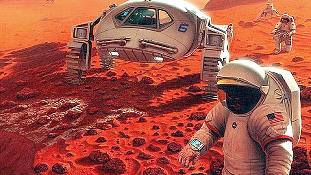In an op-ed for CNN, the United States President, Barack Obama, revealed his goals for space exploration in the foreseeable future, including a manned mission to the red planet and a safe return trip to Earth, and the 'ultimate ambition' of a long-term stay. Artist's impression of Mars PHOTO CREDIT: Alamy