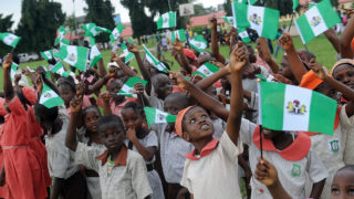 Nigerian children attend independence day celebrations in Lagos in October 1, 2013. PHOTO: Pius Utomi Ekpei/AFP