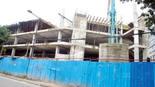 Onikan car park under construction