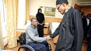 President Buhari with Brig.-Gen. Aliyu