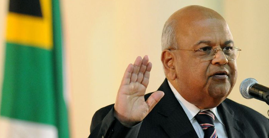 Pravin Gordhan, who served as South Africa's finance minister from 2009 to 2014, was re-appointed to the role following the sacking of Nhlanhla Nene (AFP Photo/Alexander Joe)