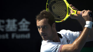 Richard Gasquet of France  / AFP PHOTO / FRED DUFOUR