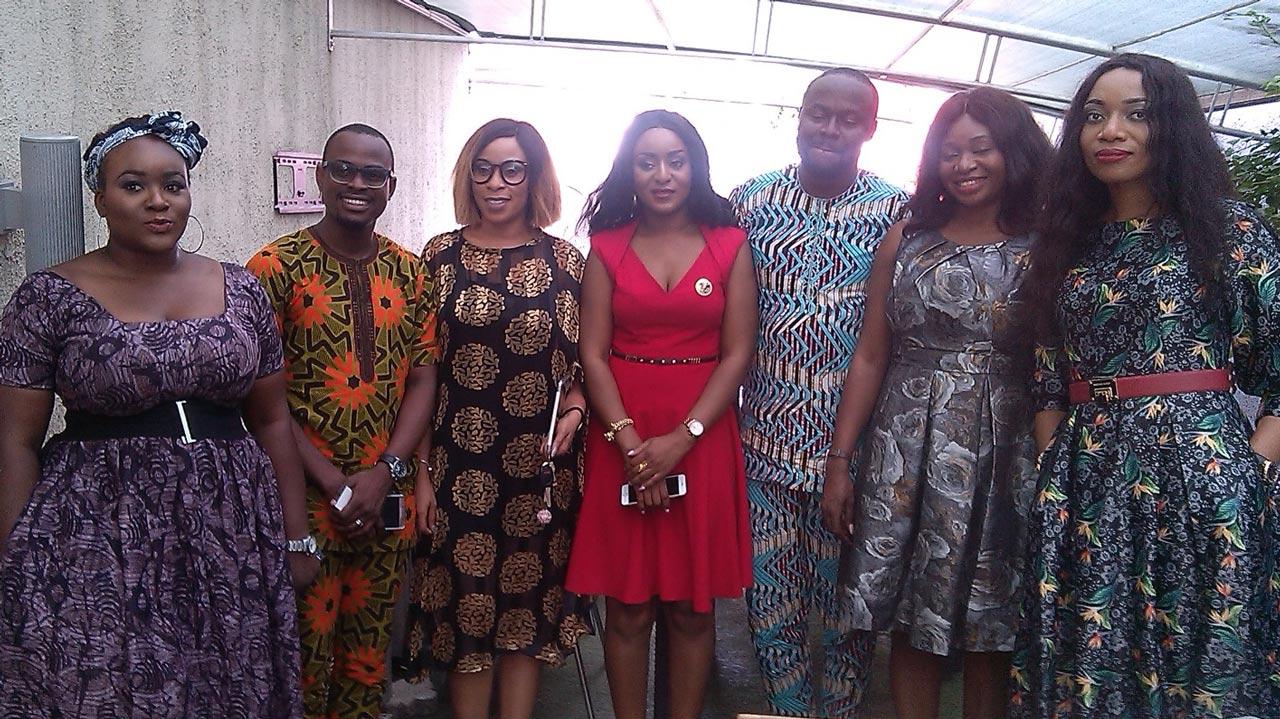 Strugz founder Amaka Orakwe (middle) and her team.