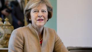 UK Prime Minister Theresa May  / AFP PHOTO / Scanpix Denmark / Liselotte Sabroe / Denmark OUT