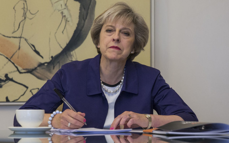 British Prime Minister Theresa May / AFP PHOTO / POOL / Jack Hill
