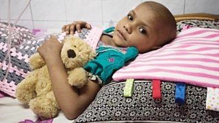 A child suffering from cancer