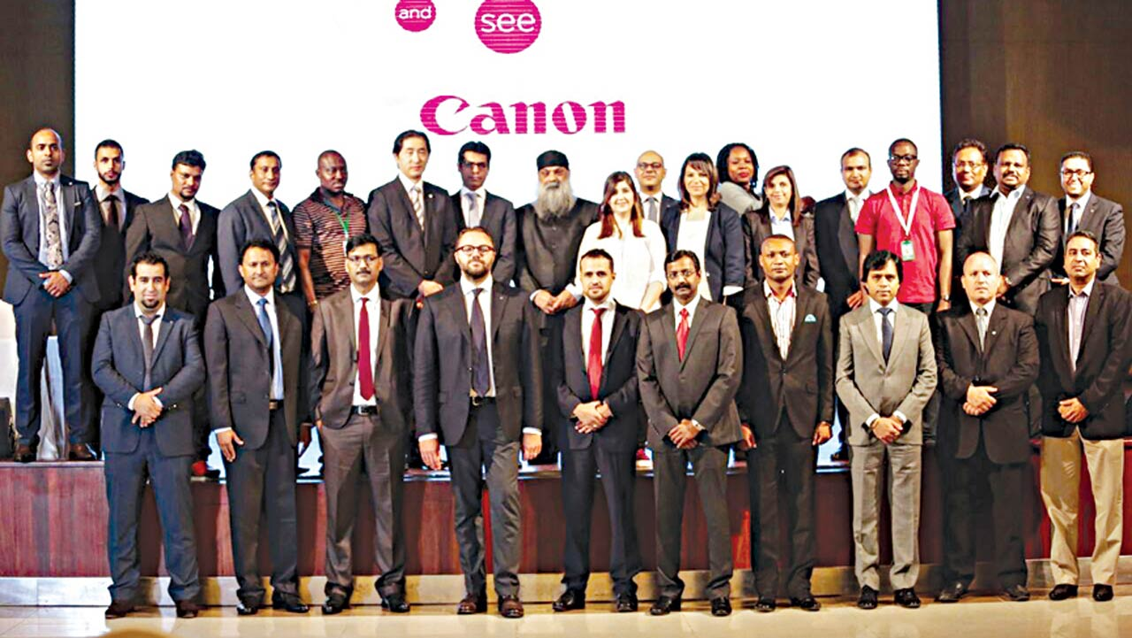 Top management members of staff of Canon Central and North Africa