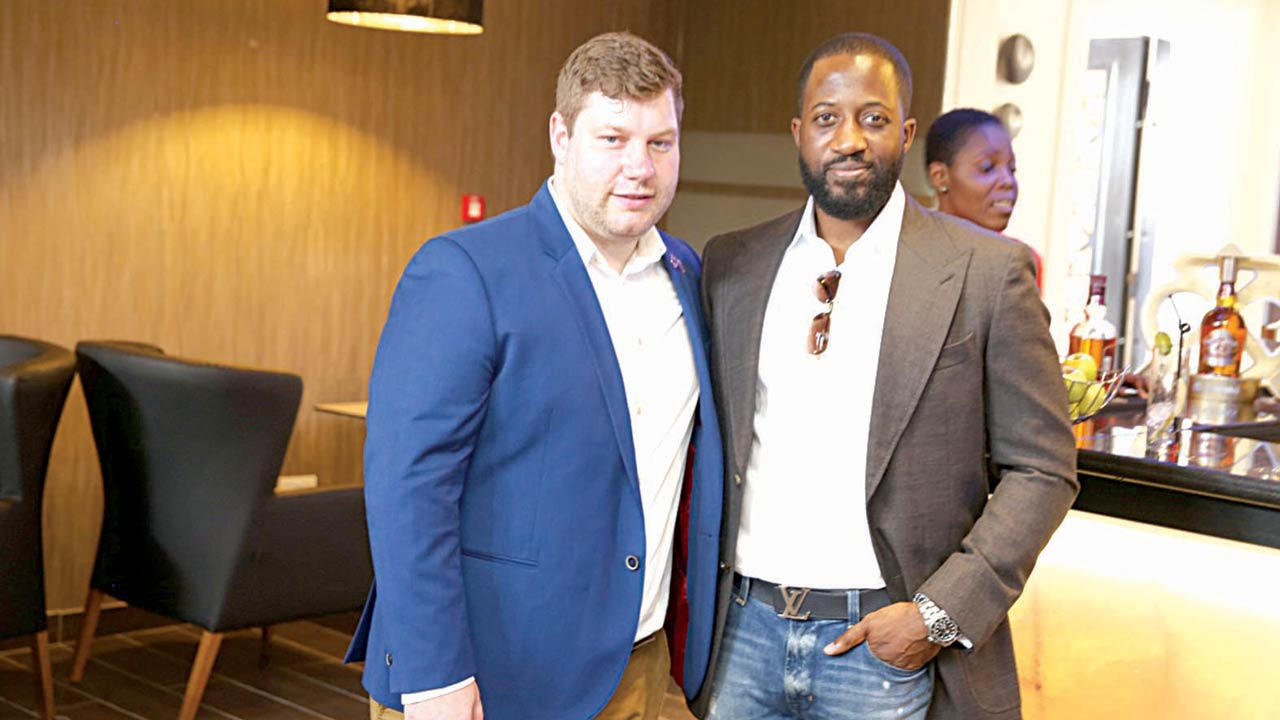 Craig Van Niekerk, Marketing Director, Pernod Ricard Nigeria (left) and Olaotan Towry Coker, Founder, Cranium-One