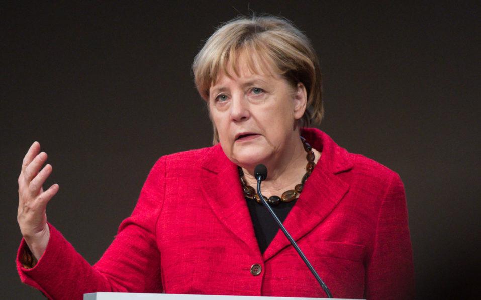 German Chancellor Angela Merkel  / AFP PHOTO / DPA / Bernd von Jutrczenka / Germany OUT