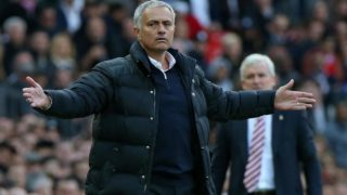 Manchester United's Portuguese manager Jose Mourinho gestures on the touchline during the English Premier League football match between Manchester United and Stoke City at Old Trafford in Manchester, north west England, on October 2, 2016. The game ended 1-1. PHOTO: Scott Heppell / AFP