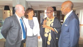 Minister of Information And Culture, Alhaji Lai Mohammed (second right) with other delegates at the UN conference on climate change in Morroco.