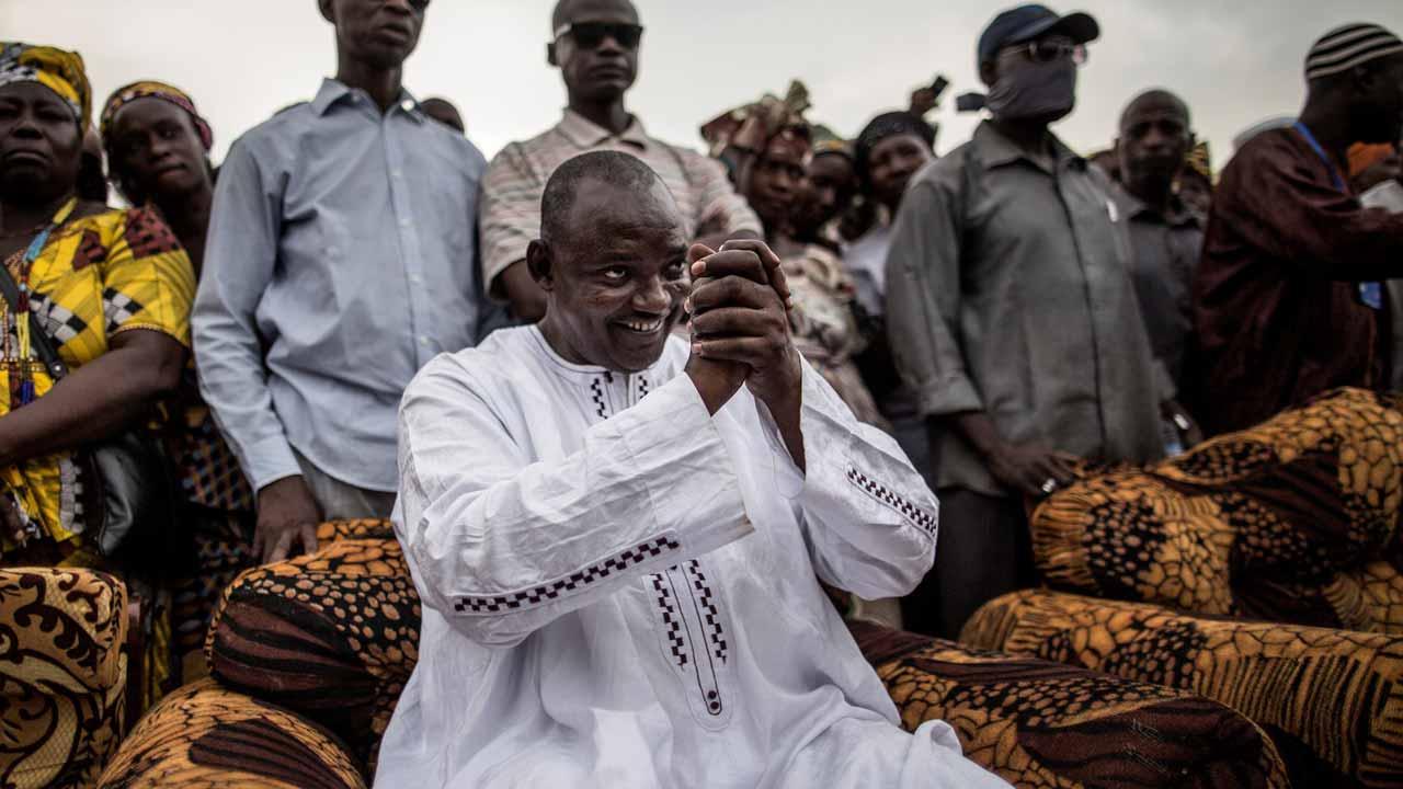 Adama Barrow. PHOTO: MARCO LONGARI / AFP