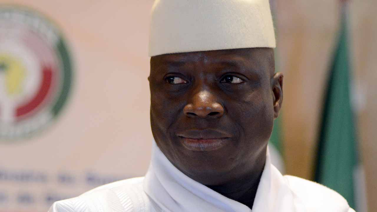 "(FILES) This file photo taken on March 28, 2014 shows President Yahya Jammeh of Gambia attending the 44th summit of the 15-nation west African bloc ECOWAS at the Felix Houphouet-Boigny Foundation in Yamoussoukro. Gambia's President Yahya Jammeh said on December 9, 2016 he would not recognise the results of December 1 elections and called for fresh polls, a week after he conceded defeat. ""In the same way that I accepted the results faithfully believing that the Independent Electoral Commission was independent and honest and reliable, I hereby reject the results in totality,"" he said in a statement broadcast on state television. ISSOUF SANOGO / AFP"